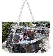 Waikiki Statue - Surfer Boy And Seal Weekender Tote Bag