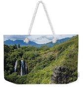 Wailua Falls And Tropical Plants Weekender Tote Bag