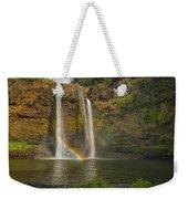 Wailua Falls Rainbow Weekender Tote Bag
