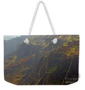 Waimea Canyon On A Misty Day In Kauai Weekender Tote Bag