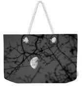 Waning Black And White Weekender Tote Bag