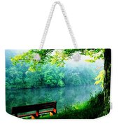 Waiting Bench Weekender Tote Bag
