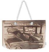 Waiting For Service- Sephia Weekender Tote Bag