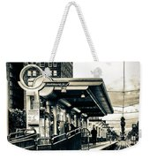 Waiting For The Blue Line Weekender Tote Bag