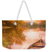 Waiting For The Dawn In Peach Weekender Tote Bag