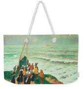 Waiting For The Return Of The Fishermen In Brittany Weekender Tote Bag by Henry Moret