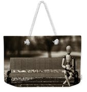Waiting For The Taxi Weekender Tote Bag