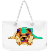 Waiting For You. Dog Series Weekender Tote Bag