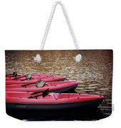 Waiting Kayaks Weekender Tote Bag