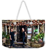 Waitresses At Outdoor French Terroir In Old Quebec City Weekender Tote Bag