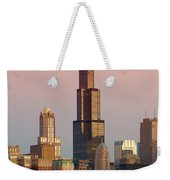 Wake Up Chicago Weekender Tote Bag by Sebastian Musial
