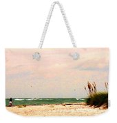 Walk The Beach Weekender Tote Bag