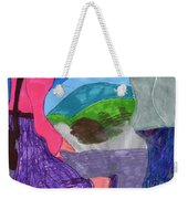 A Foggy Early Morning Walk Weekender Tote Bag