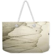 Walking Along The Beach At Sunrise Weekender Tote Bag