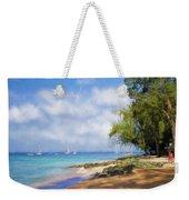 Walking Along The Beach, Holetown, Barbados Weekender Tote Bag