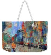 Walking Down Street In Color Splash Weekender Tote Bag