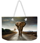 Walking Elephant Weekender Tote Bag