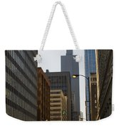 Walking In Chicago Weekender Tote Bag
