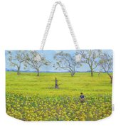 Walking In The Mustard Field Weekender Tote Bag