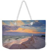 Walking On The Beach At Sunset Weekender Tote Bag