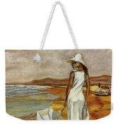 Walking On The Beach Weekender Tote Bag