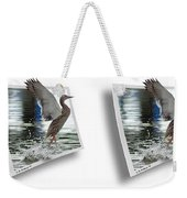 Walking On Water - Gently Cross Your Eyes And Focus On The Middle Image Weekender Tote Bag