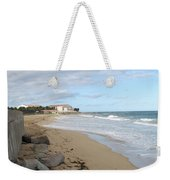 Walking The Beach In St Kitts Weekender Tote Bag