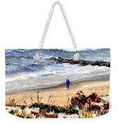 Walking The Beach On Long Beach Island Weekender Tote Bag