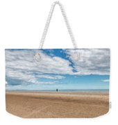 Walking The Dog On The Beach Weekender Tote Bag