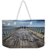 Walking The Pier Weekender Tote Bag