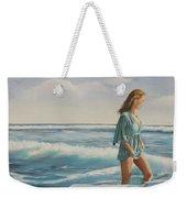 Walking The Surf Weekender Tote Bag