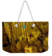 Walking With Autumn Weekender Tote Bag