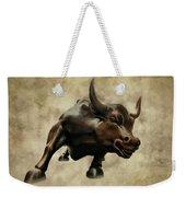 Wall Street Bull V Weekender Tote Bag