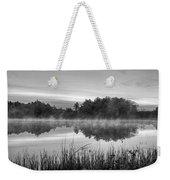 Wallis Sands Marsh Smoke On The Water Rye Nh Black And White Weekender Tote Bag