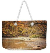 Walnut Creek In Autumn Weekender Tote Bag