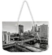 Walnut Street City View In Black And White Weekender Tote Bag