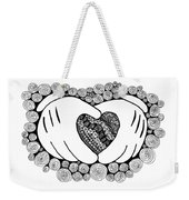 Walt Disney's Mickey Mouse Inspired Hands And Heart Weekender Tote Bag