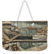 Walter  E  Schofield 1867-1944 Dock With Shed Weekender Tote Bag