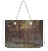 Walter Launt Palmer 1854-1932 Winter Stream At Sunset Weekender Tote Bag