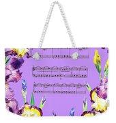 Waltz Of The Flowers Dancing Iris Weekender Tote Bag