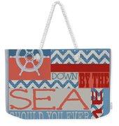 Wander Down By The Sea Weekender Tote Bag