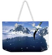 Wandering Albatross Over The Le Maire Channel Weekender Tote Bag