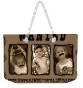 Wanted The Outlaw Gang Weekender Tote Bag