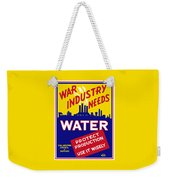 War Industry Needs Water - Wpa Weekender Tote Bag