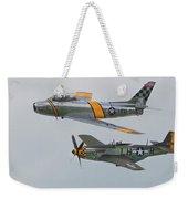 Warbirds Heritage F-86 Sabre And P-51 Mustang Weekender Tote Bag
