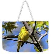 Warbler In Yellow Weekender Tote Bag