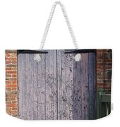 Warehouse Wooden Door Weekender Tote Bag by Thomas Marchessault