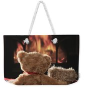 Warm And Cosy Teddies By The Fireside Weekender Tote Bag