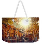Warm Autumn City. Warm Colors And A Large Film Grain. Weekender Tote Bag