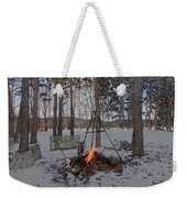 Warm Camp Fire Weekender Tote Bag